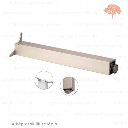 Négyszögletes eloxált alumínium színű 80x80mm / 710mm-es asztalláb alumínium profilból