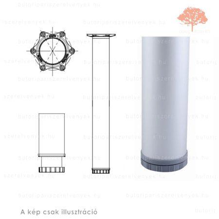 Henger alakú eloxált alumínium színű ø60mm / 710mm-es asztalláb