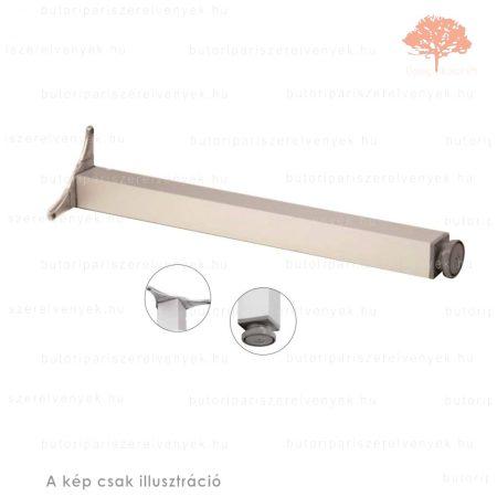 Négyszögletes eloxált alumínium színű 60x60mm / 710mm-es asztalláb alumínium profilból