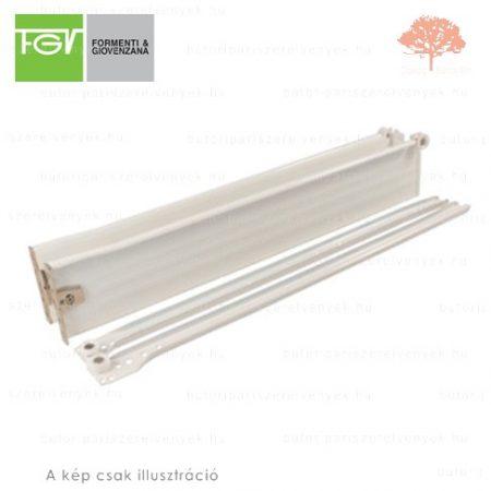 FGV - fehér színű 550mm-es részleges kihúzású HAGYOMÁNYOS görgős fióksín 53mm-es OLDALLAPPAL
