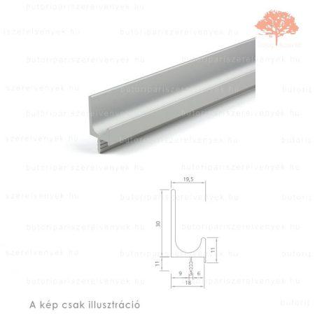 FA2450 alumínium színű fogantyú profil