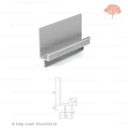 PI2450 alumínium színű fogantyú profil
