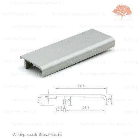 LU2950 alumínium színű fogantyú profil