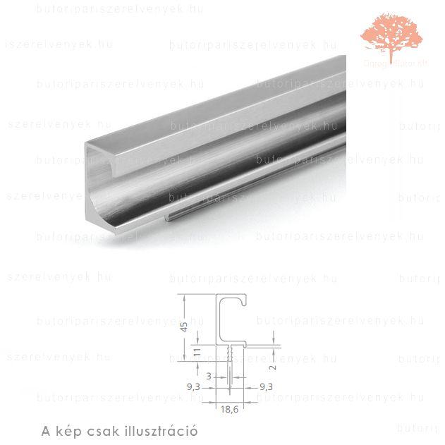 PA597 ezüst színű fogantyú profil