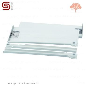 Strong - fehér színű 500mm-es részleges kihúzású HAGYOMÁNYOS görgős fióksín 118mm-es OLDALLAPPAL