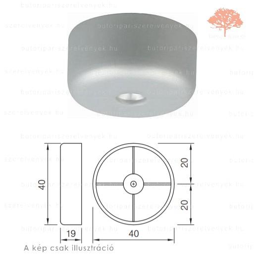 Szürke színű ø40mm-es csavarozható csúszótalp