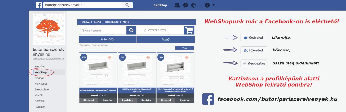 WebShopunk már a Facebookon is elérhető!